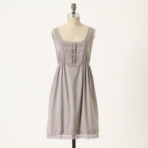 Anthropologie Maeve Gray Oratory Sundress Small